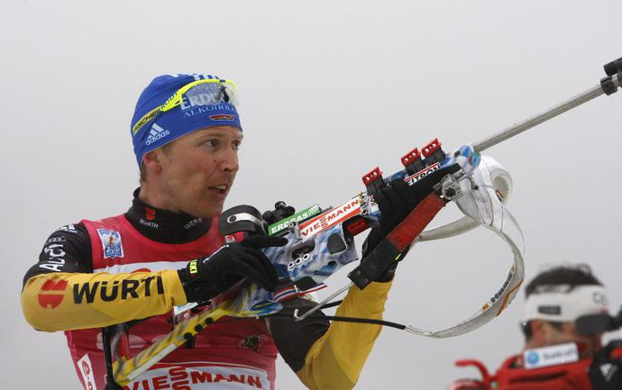 Немец Андреас БИРНБАХЕР - победитель спринтерской гонки в Хохфильцене. Фото REUTERS Фото «СЭ»