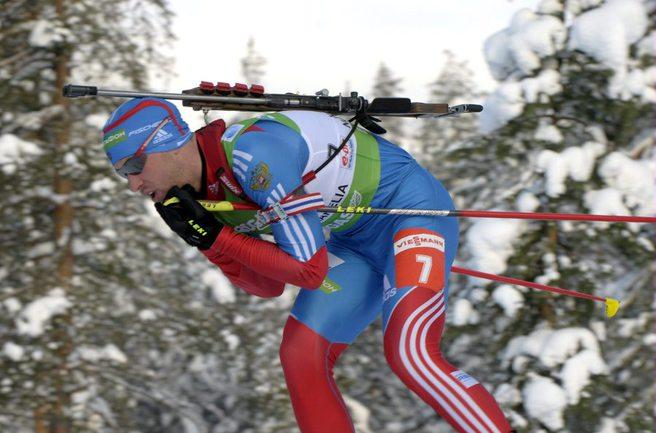 Российский биатлонист Дмитрий МАЛЫШКО. Фото AFP Фото AFP
