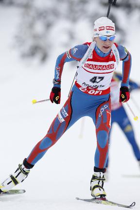 Финская биатлонистка Кайса МЯКЯРЯЙНЕН. Фото AFP Фото AFP