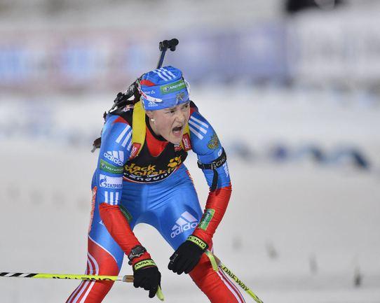 Российская биатлонистка Екатерина ЮРЛОВА. Фото REUTERS Фото Reuters