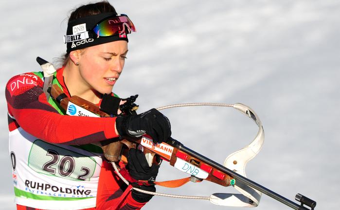 Норвежская биатлонистка Сюнневе СОЛЕМДАЛЬ. Фото AFP Фото AFP