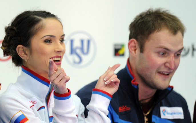 Российские фигуристы Юрий ЛАРИОНОВ и Вера БАЗАРОВА. Фото AFP Фото AFP