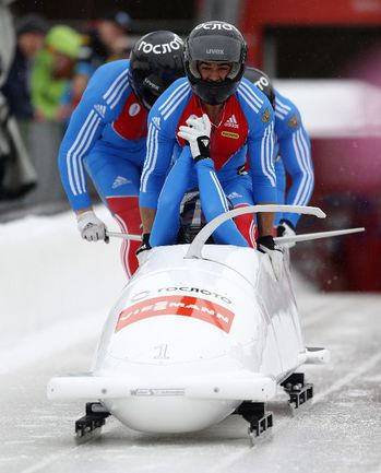 Бобслейная четверка Александра ЗУБКОВА. Фото AFP Фото AFP