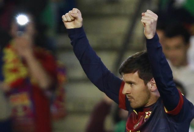 """Вчера. Севилья. """"Бетис"""" - """"Барселона"""" - 1:2. Лео МЕССИ превзошел рекорд Герда МЮЛЛЕРА. Фото REUTERS Фото Reuters"""