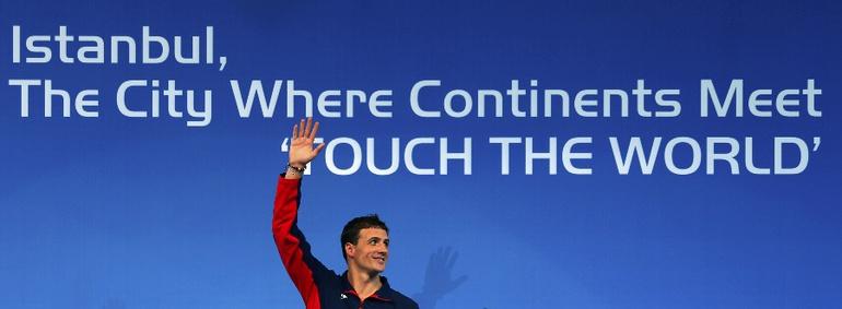 Сегодня. Стамбул. Пятикратный олимпийский чемпион Райан ЛОХТЕ - чемпион на 200 метрах. Фото REUTERS Фото Reuters
