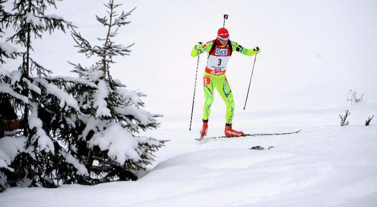 Победитель спринтерской гонки в Поклюке Яков ФАК. Фото REUTERS Фото «СЭ»