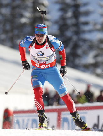 Российский биатлонист Евгений УСТЮГОВ. Фото AFP Фото AFP