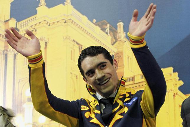 Сегодня. Загреб. Испанец Хавьер ФЕРНАНДЕС - чемпион Европы в мужском одиночном катании. Фото REUTERS Фото Reuters