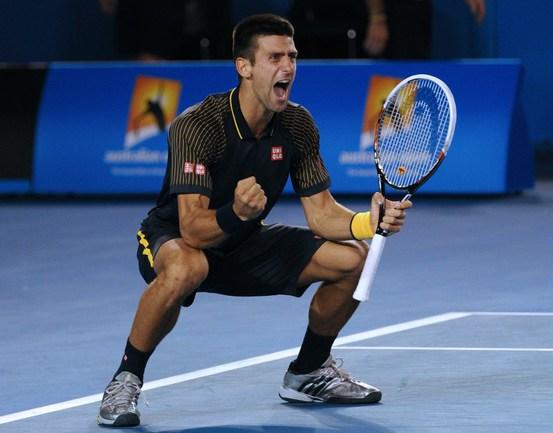 Сегодня. Мельбурн. Радость Новака ДЖОКОВИЧА после победы над Энди Маррэем в финале Australian Open. Фото AFP