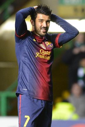 """Арсенал"" не теряет надежду приобрести форварда ""Барселоны"" Давида ВИЛЬЮ. Фото REUTERS Фото Reuters"