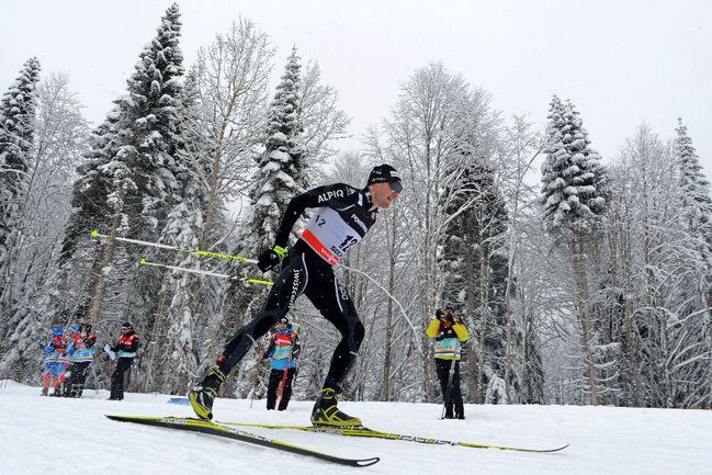 Сегодня. Сочи. Дарио КОЛОНЬЯ - серебряный призер в спринте на этапе Кубка мира в Сочи. Фото AFP Фото AFP