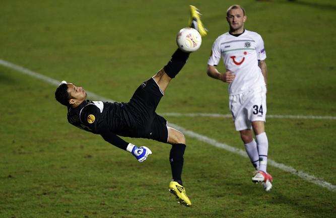 "Вратарь ""Леванте"" Кейлор НАВАС. Фото AFP Фото AFP"
