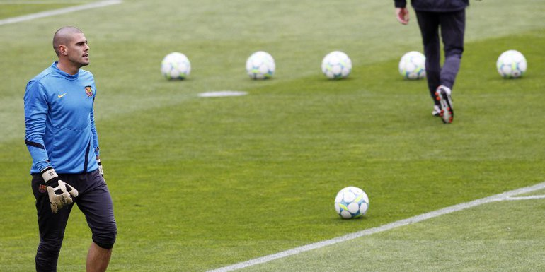 """Дисквалификация вратаря """"Барселоны"""" Виктора ВАЛЬДЕСА остается в силе. Фото REUTERS Фото Reuters"""