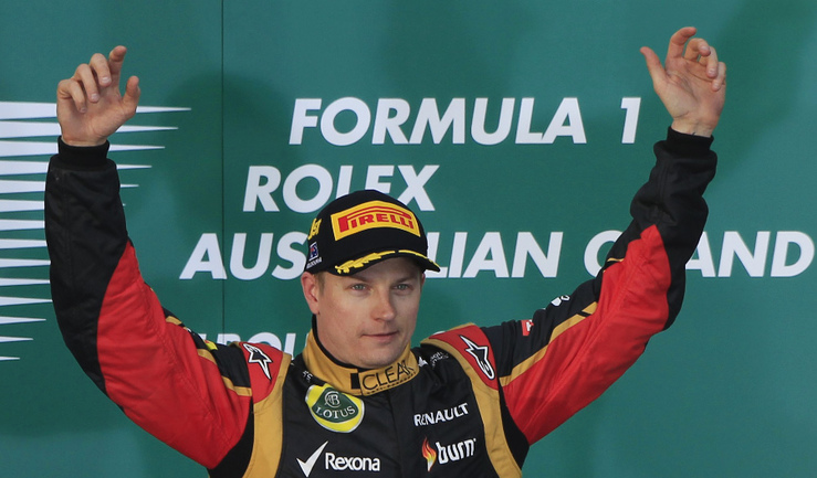 "Пилот ""Лотуса"" Кими РАЙККОНЕН, одержавший победу на ""Гран-при Австралии"". Фото REUTERS Фото Reuters"