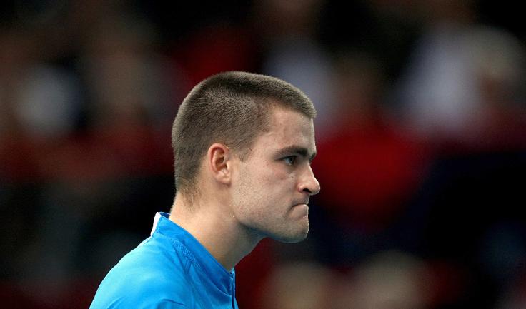 Первая ракетка России 30-летний Михаил ЮЖНЫЙ не сыграет с Великобританией. Фото AFP Фото AFP