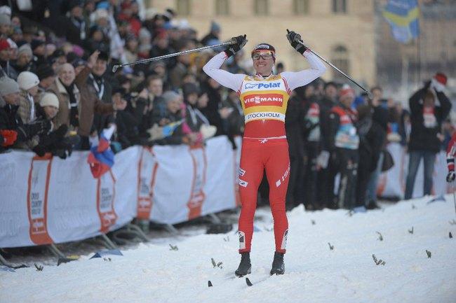 Сегодня. Стокгольм. Полька Юстина КОВАЛЬЧИК выиграла женский спринт на этапе Кубка мира. Фото REUTERS Фото Reuters
