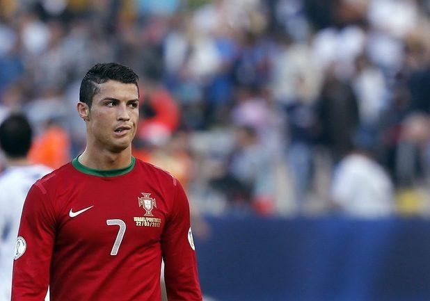 Сегодня. Тель-Авив. Израиль - Португалия - 3:3. Вингер сборной Португалии Криштиану РОНАЛДУ. Фото REUTERS Фото Reuters