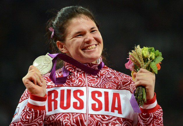 Серебряный призер Олимпийский игр-2012 в метании диска Дарья Пищальникова ПИЩАЛЬНИКОВА. Фото AFP Фото AFP