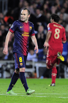 "Среда. Барселона. ""Барселона"" - ""Бавария"" - 0:3. Андрес ИНЬЕСТА. Фото AFP Фото AFP"