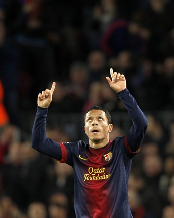 "Защитник ""Барселоны"" АДРИАНУ. Фото REUTERS Фото Reuters"