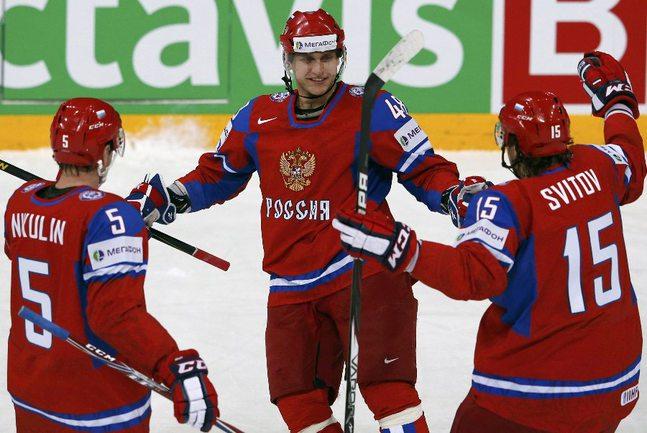 Защитник сборной России Евгений БИРЮКОВ. Фото REUTERS Фото Reuters