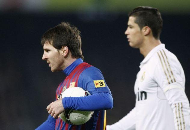 """Форвард """"Барселоны"""" Лионель МЕССИ (слева) и КРИШТИАНУ РОНАЛДУ. Фото REUTERS Фото Reuters"""
