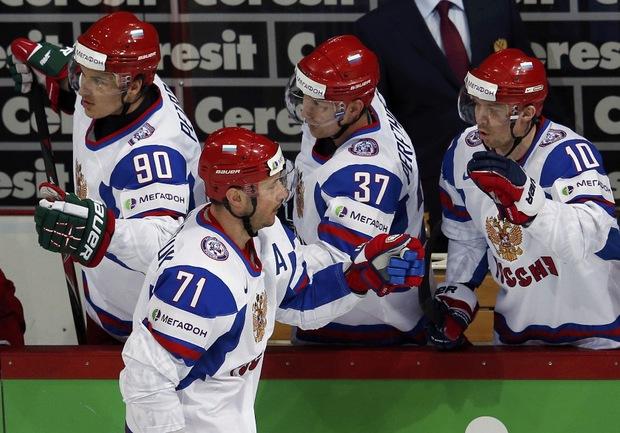 Сегодня. Хельсинки. Россия - Германия. Илья КОВАЛЬЧУК: есть дубль! Фото REUTERS Фото Reuters