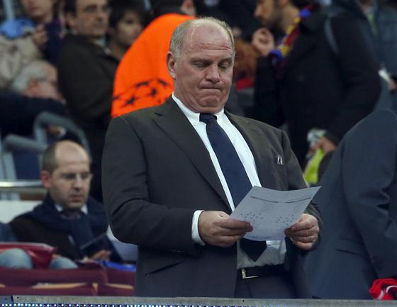 """Президент """"Баварии"""" Ули ХЕНЕСС может быть отправлен в отставку. Фото REUTERS Фото Reuters"""