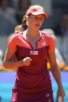Сегодня. Мадрид. Екатерина МАКАРОВА обыграла Викторию Азаренко (1:6, 6:2, 6:3). Фото AFP Фото AFP