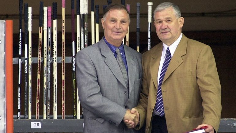 Владимир ЮРЗИНОВ (справа) и Виктор ТИХОНОВ. Фото Зигисмунд ЗАЛМАНИС