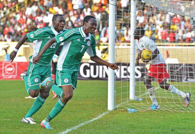 5 июня. Кения - Нигерия - 0:1. Ахмед МУСА (№7) празднует победный гол. Фото AFP Фото AFP