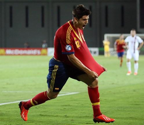 Нападающий сборной Испании Альваро МОРАТА. Фото AFP Фото AFP