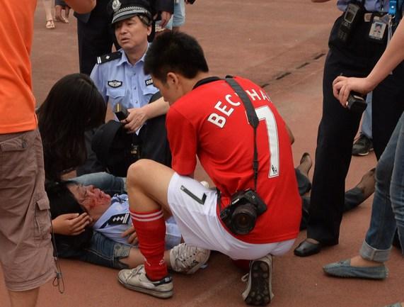 Приезд Бекхэма в Шанхай спровоцировал массовую давку Фото «СЭ»