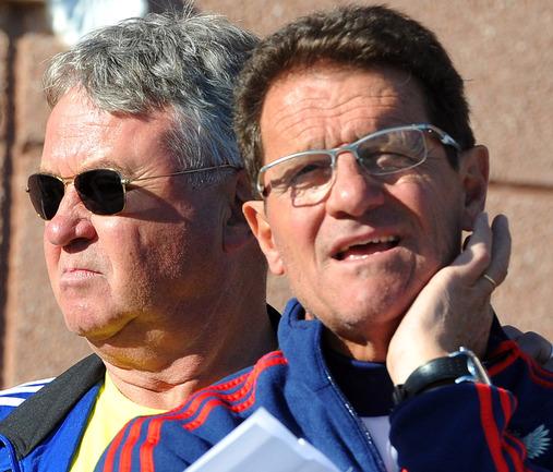 Виталий Мутко уверен, что таких тренеров, как Фабио КАПЕЛЛО и Гус ХИДДИНК, в мире можно пересчитать по пальцам. Фото «СЭ»