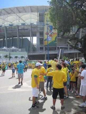 На улицах Салвадора перед матчем Бразилии и Италии пока спокойно Фото «СЭ»