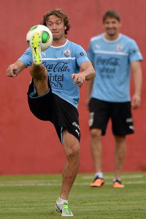 Защитник сборной Уругвая Диего ЛУГАНО. Фото AFP Фото AFP