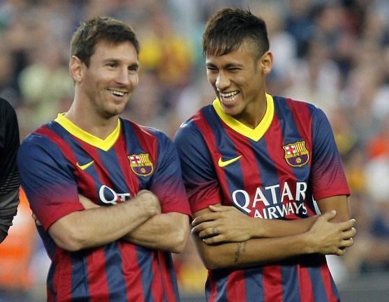 """Игроки """"Барселоны"""" Лионель МЕССИ и НЕЙМАР. Фото AFP Фото AFP"""