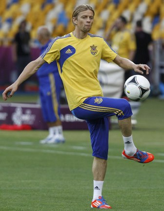 Капитан сборной Украины Анатолий ТИМОЩУК. Фото REUTERS Фото Reuters