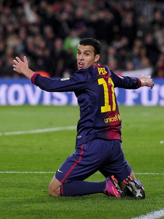 "Нападающий ""Барселоны"" Педро РОДРИГЕС. Фото AFP Фото AFP"