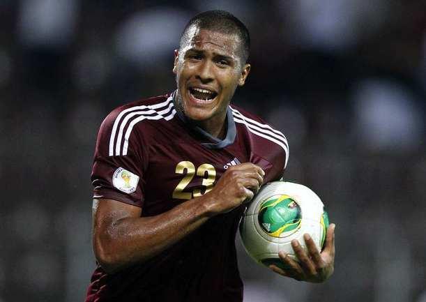 Нападающий сборной Венесуэлы Саломон РОНДОН. Фото REUTERS Фото Reuters