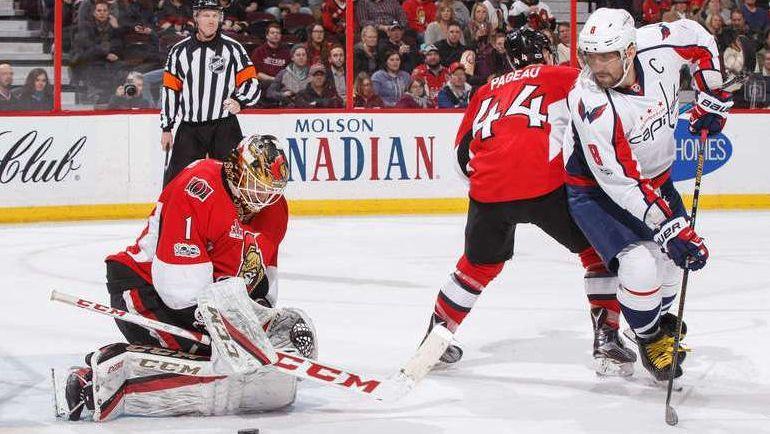 """Вторник. Оттава. """"Оттава"""" - """"Вашингтон"""" - 0:3. Капитан """"Вашингтона"""" Александр ОВЕЧКИН (№8). Фото NHL.com"""