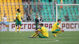 """Игроки """"Кубани"""" после поражения."""