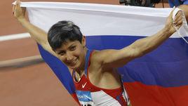 Август 2008 года. Татьяна ЛЕБЕДЕВА в Пекине.