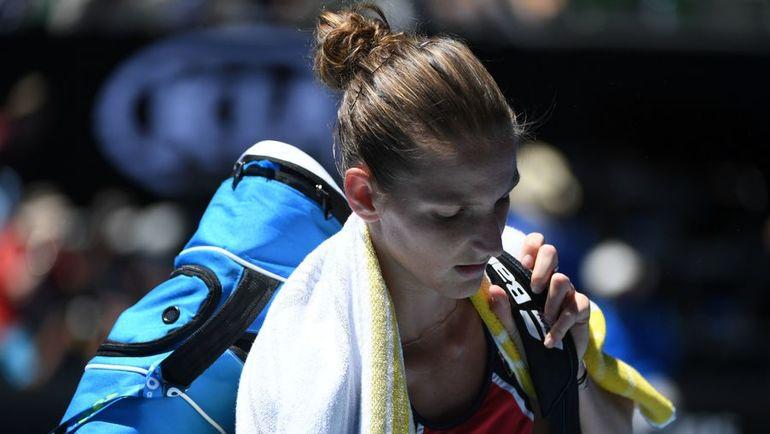 Каролина ПЛИШКОВА проиграла Мирьяне ЛУЧИЧ-БАРОНИ. Фото AFP