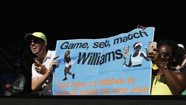 Среда. Мельбурн. Для болельщиков сестер Уильямс их выход в финал не стал неожиданностью. Фото Reuters