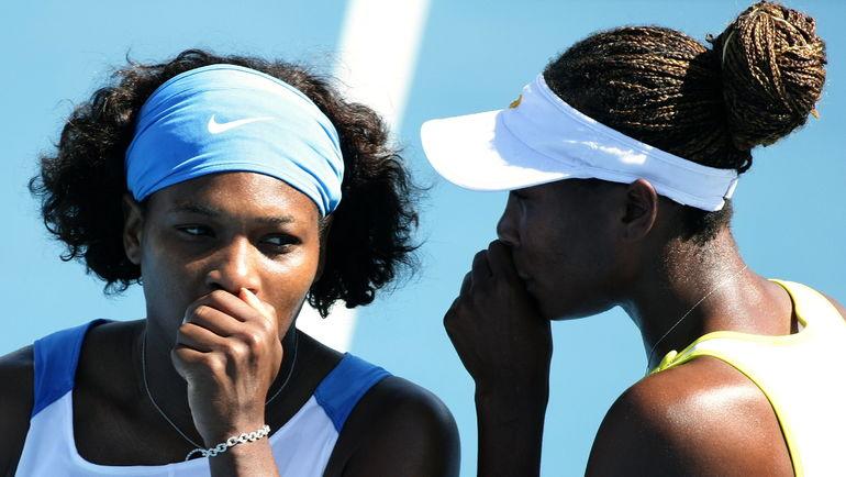2009 год. Серена (слева) и Винус УИЛЬЯМС. Фото AFP