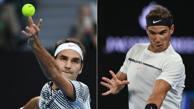 В воскресенье Роджер ФЕДЕРЕР (слева) и Рафаэль НАДАЛЬ встречаются в финале Открытого чемпионата Австралии. Фото AFP
