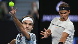 В воскресенье Роджер ФЕДЕРЕР (слева) и Рафаэль НАДАЛЬ встречаются в финале Открытого чемпионата Австралии.