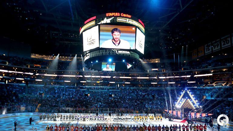Воскресенье. Лос-Анджелес. Матче всех звезд НХЛ. Александр ОВЕЧКИН на табло арены.