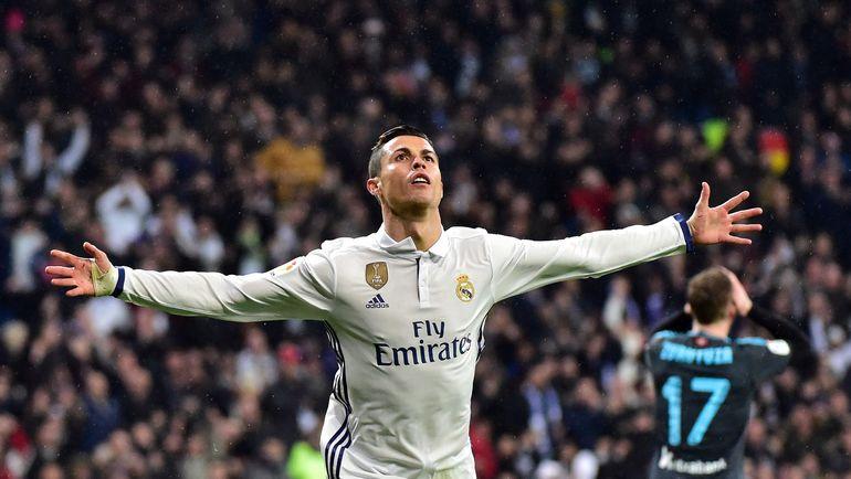 """Воскресенье. Мадрид. """"Реал"""" - """"Реал Сосьедад"""" - 3:0. КРИШТИАНУ РОНАЛДУ празднует гол. Фото AFP"""